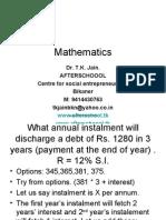 1 July Mathematics III