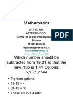1 July Mathematics Proportion & Indices