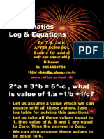 2 July Mathematics Log & Equations I