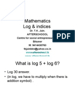 2 July Maths Log & Indices