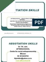 1 August Negotiation Skills