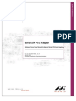 SW Driver User Manual for Marvell Serial ATA Host Adapters