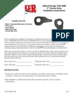 SkyJacker Dodge D201KE Install Manual