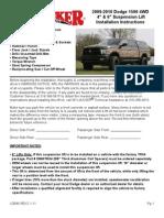 SkyJacker Dodge D940SSK Install Manual