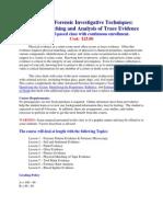 Trace Evidence Syllabus