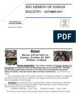 Jodo Mission Bulletin - October 2011