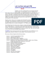 Pet FirstAid CPR Syllabus