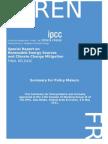 IPCC Special Report on Renewable Energy (2011)