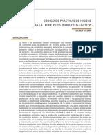 CÓDIGO DE PRÁCTICAS DE HIGIENE
