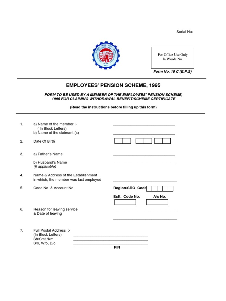 Pf Withdrawal Application Sample Copy Contract Of Loan Sample