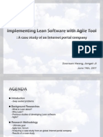 Implementing Lean Software With Agile Tools