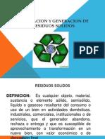 Clasificacion y Generacion de Residuos Solidos