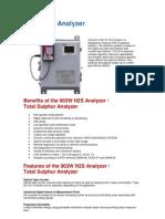 903W H2S Analyzer