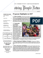 Growing People Newsletter - Fall 2007 - Part A
