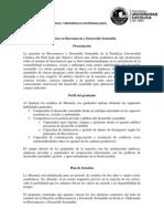 """Plan de Estudios """"Maestría en Biocomercio y Desarrollo Sostenible"""""""