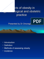Effects of Obesity on Gynaecological and Obstetric Practice