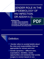 Gender Role in the Epidemiology of Hiv Infection