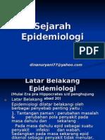 Sejarah Perkembangan Epidemiologi 1