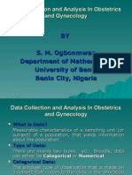 Data Collection and Analysis in Obstetrics and Gynecology