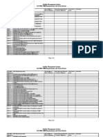 Iso 9001 Requirements Matrix