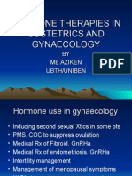 Hormone Therapies in Obstetrics and Gynaecology