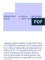 Operative Vaginal Delivery (Ovd)