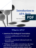 APA for Online