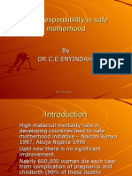 Male Responsibility in Safe Motherhood
