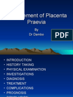 Management of Placenter Praevia