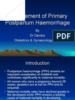 Management of Primary Postpartum Haemorrhage
