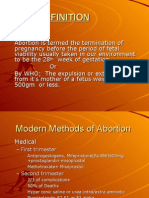Methods and Complications of Induced Abortion