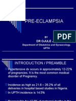 Pre-Eclampsia Aetiology Etc