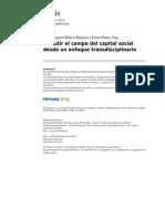 Discutir El Campo Del Capital Social Desde Un Enfoque Transdisciplinario