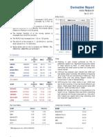 Derivatives Report 22nd September 2011
