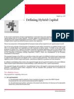 Client Alert - Defining Hybrid Capital