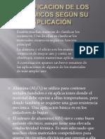 CLASIFICACION DE LOS CERAMICOS SEGÚN SU APLICACIÓN