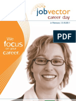 Begleithheft jobvector career day in Hannover 2011