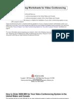 Network Planning Worksheets for Video Conferencing
