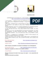 """Contributions """"Vive La Soupe"""" Septembre 2011"""