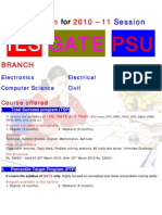 Admission Notification for IES, GATE, PSU 2010-11