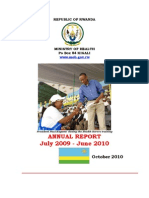 Ministry of Health Annual Report July 2009-June 2010