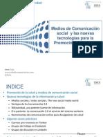 Medios de comunicación social, nuevas tecnologías y Promoción de la Salud