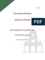 Hermeneutica Aplicada 2011-2012
