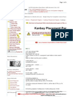 Kanbay Placement Paper 3
