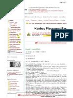 Kanbay Placement Paper 4