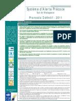 Système d'Alerte Précoce au Sud de Madagascar - Pronostic Définitif - 2011 (PAM - 2011)