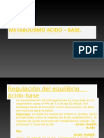Metabolismo Acido – Base