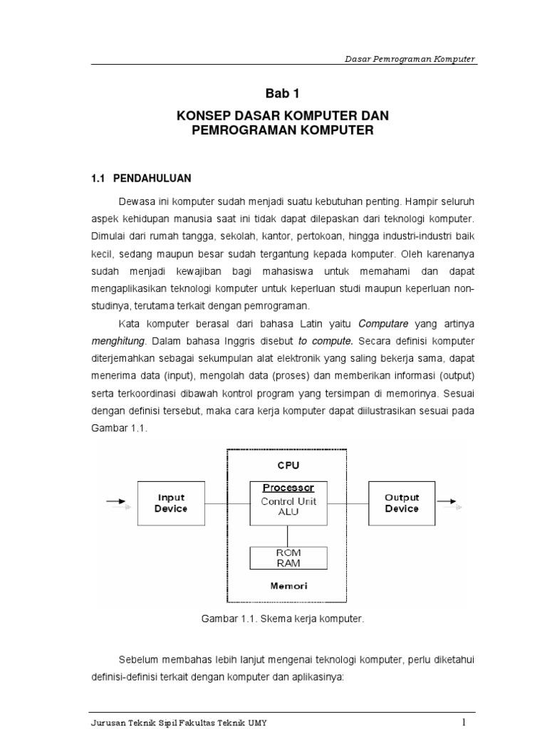 Buku Ajar Dasar Pemrograman Komputer Tutorial Matlab