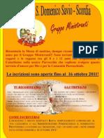 Locandina Gruppo Ministranti 2011