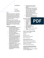 Employee Benefits and Services Administration Handout